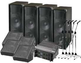 レンタル機材 音響Dセット